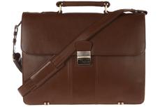 Кожаный мужской портфель Visconti Warwick 01775 Black