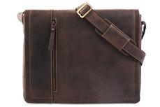 Сумка для ноубука кожаная Visconti Foster XL 16073 Oil Brown