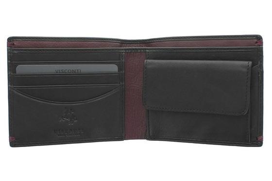 Бумажник Visconti AP62 Black/Burgundy.