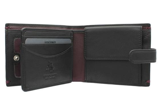 Бумажник Visconti AP63 Black/Burgundy.