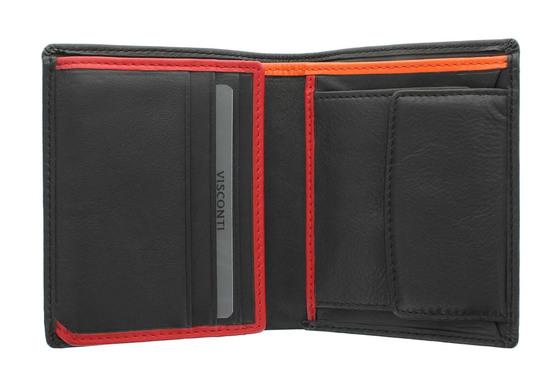 Бумажник Visconti Bond BD22 Black/Red/Orange