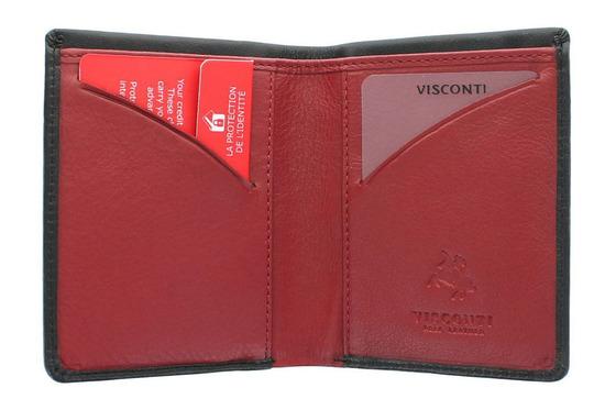 Бумажник Visconti VSL21 Black-Red.