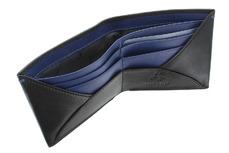 Бумажник Visconti VSL28 Black Cobalt. Отделения для карт