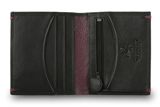 Бумажник Visconti AP61 Black/Burgundy.