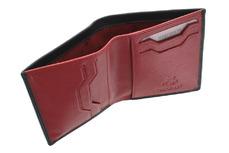 Бумажник Visconti VSL26 Black Red. Отделение для купюр
