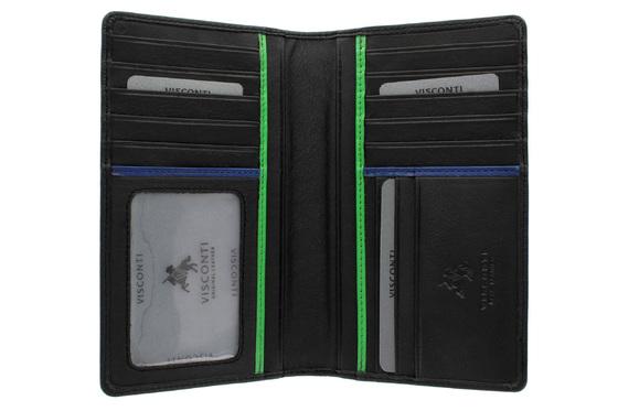 Бумажник Visconti BD12 Jaws Black/Cobalt/Green. Официальный сайт Visconti в России.